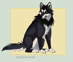 Sitting Wolf by TheMysticWolf