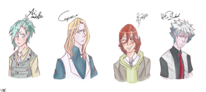 Quartet Night busts by Temarigirl1600