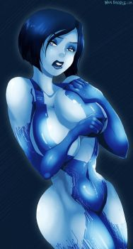 halo cortana busty by 98groxes