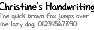 Handwriting font by shaketheskyy