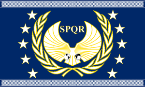 Roman Flag 2 by 1Wyrmshadow1