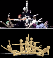 Death Parade Group Pose for MMD by cinnabunMMD