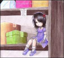 The doll is waiting.. by pukedrawings