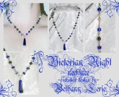 Victorian Night necklace by redLillith