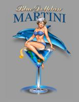 Blue Dolphin Martini by obxrussell