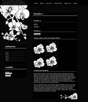 Orchid - website layout by pinkcamellia