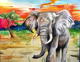 363- Tweety and Elephant by Lucky978