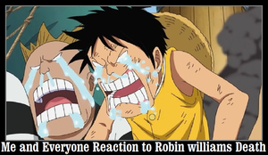 Me and Everyone Reaction to Robin Williams Death by newsuperdannyzx