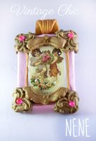 Vintage Chic Angels Pendant by Nene-Crafts