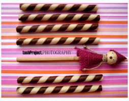 me and chocolate wafer stick by tshtshtsh