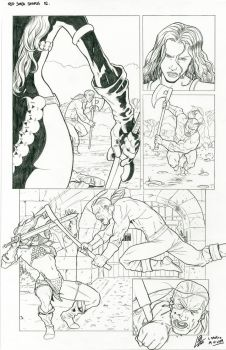 Red Sonja 02 Sample comic page by araeld