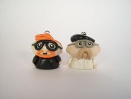 Mythbusters Clay Pendant Set by sweet-geek