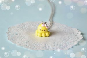Yellow Baby Octopus Yuki-chan 3D Necklace by Unicharms