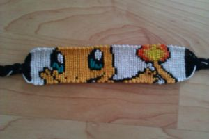 Charmander Bracelet by ShoopOnTheMoon