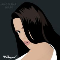 Angelina Jolie Vector by Wildmiguel