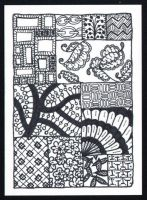 BW Zentangle ATC n1 by etayn