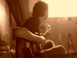 ed playing guitar by thom-cat