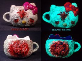 Hello Blasted Kitty Coffee Mug by Undead Ed Glows  by Undead-Art