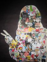 Collage Inside a Silhouette of Me by 525600termites
