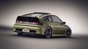Honda CRX back by NasG85