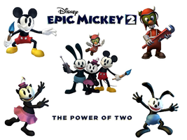 Epic Mickey 2 :Main Protagonists artwork wallpaper by jtwo22