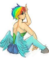 rainbow dash by the-mythical-beast