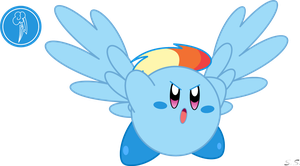 Kirby Rainbow Dash by silver-soldier