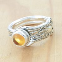 Spoon Ring with Citrine by metalsmitten
