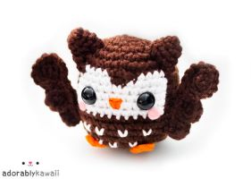 cute brown owl amigurumi 2 by adorablykawaii