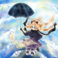over clouds +[speedpaint] by Reini-tan