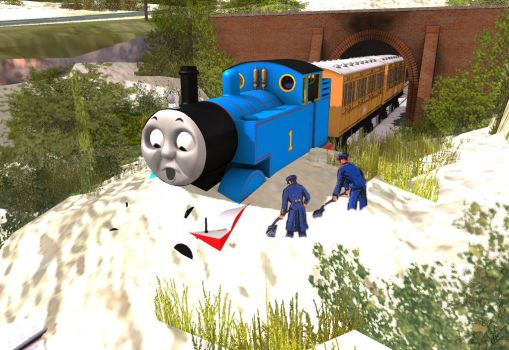 Thomas, Terence and the Snow by Sonictheartist1