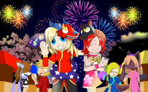 Kyle and Rachel at the New Chinese Year by UMSAuthorLava
