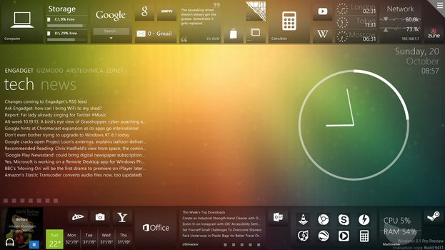 Rainmeter with Omnimo 6 - Shot 2 by LuminaryDragon