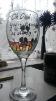 Kiss Painted Glass - Back by SpottyBulboid