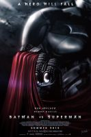 Batman Vs Superman Movie Poster V2 by DISENT