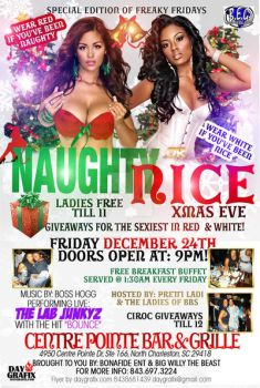 Naughty or nice party flyer by mochadevil83