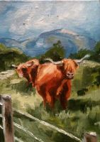 Highland Cows by KittyNamedAlly