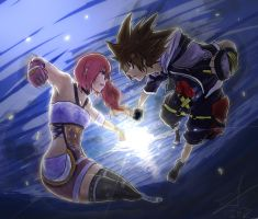 Sora Vs Serah by 5aXoR