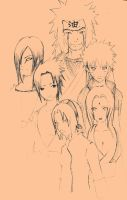 3 sennin and their pupils by Feiuccia
