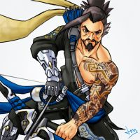 Overwatch 2/8 - Hanzo by Jevi93