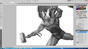 Thor -new digital painting experiment- [step7] by aRmydesigner