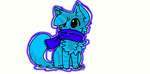 Neon Kitty Adoptable (open) 5 POINTS by FoxyLeftPiratesCove1