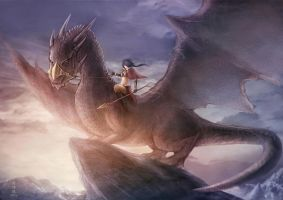 Dragon Rider by Nekomancerz