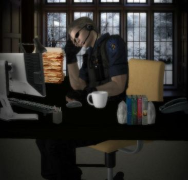 Another day at work by IamAlbertWesker
