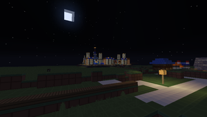 Jubilife City in Minecraft from a distance by NinjaKirby144