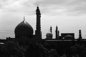 Iran Qom Mosque of Fatima 1970s by BlackWhitePictures