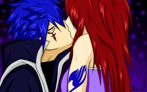 Erza and Jellal, Love and Tears. by Xela-scarlet