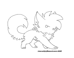 .: Lil Wolf lineart :. by RoxasLover-KH2