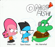 Office Fish Lineup by TheSirKnite