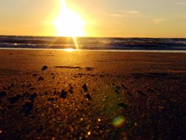 Sunset at the beach. by bramgoosen